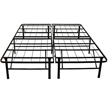 classic brands hercules heavy duty 14 inch platform metal bed frame mattress foundation - Twin Iron Bed Frame