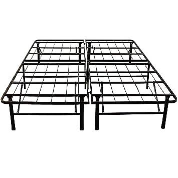 classic brands hercules heavy duty 14 inch platform metal bed frame mattress foundation - Black Metal Bed Frame