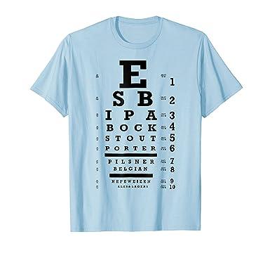 Amazon The Original Craft Beer Eye Chart T Shirt Clothing