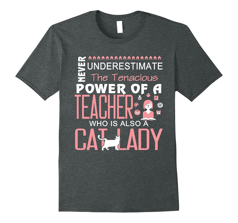 A Teacher Who Is Also A Cat Lady T Shirt, Cat T Shirt