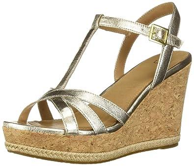 2cd75f976795 Amazon.com  UGG Women s Melissa Metallic Wedge Sandal  Shoes