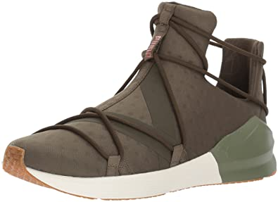 the best attitude 26c3c 0079c PUMA Women s Fierce Velvet Rope Wn Sneaker, Olive Night-Whisper White, ...