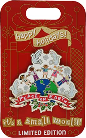 DISNEY DISNEYLAND DLR IT/'S A SMALL WORLD HOLIDAY 2018 PEACE ON EARTH PIN DCA