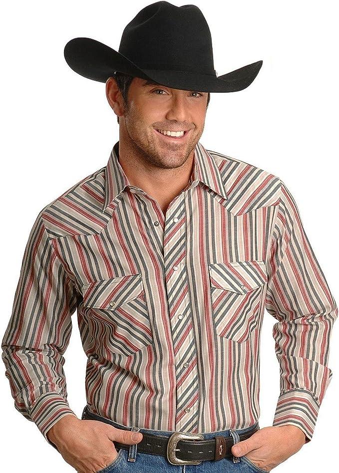 Wrangler Hombre Rayas o Cuadros Manga Larga Classic Western Camisa de Altura – 75951pp: Amazon.es: Ropa y accesorios