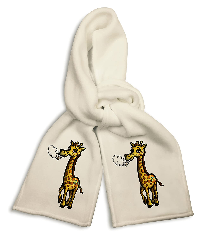 Pot Smoking Pals Giraffe White Winter Scarf