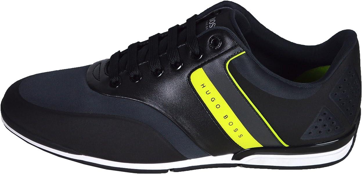 Hugo Boss - Zapatillas de Material Sintético para Hombre Gris Gris Oscuro