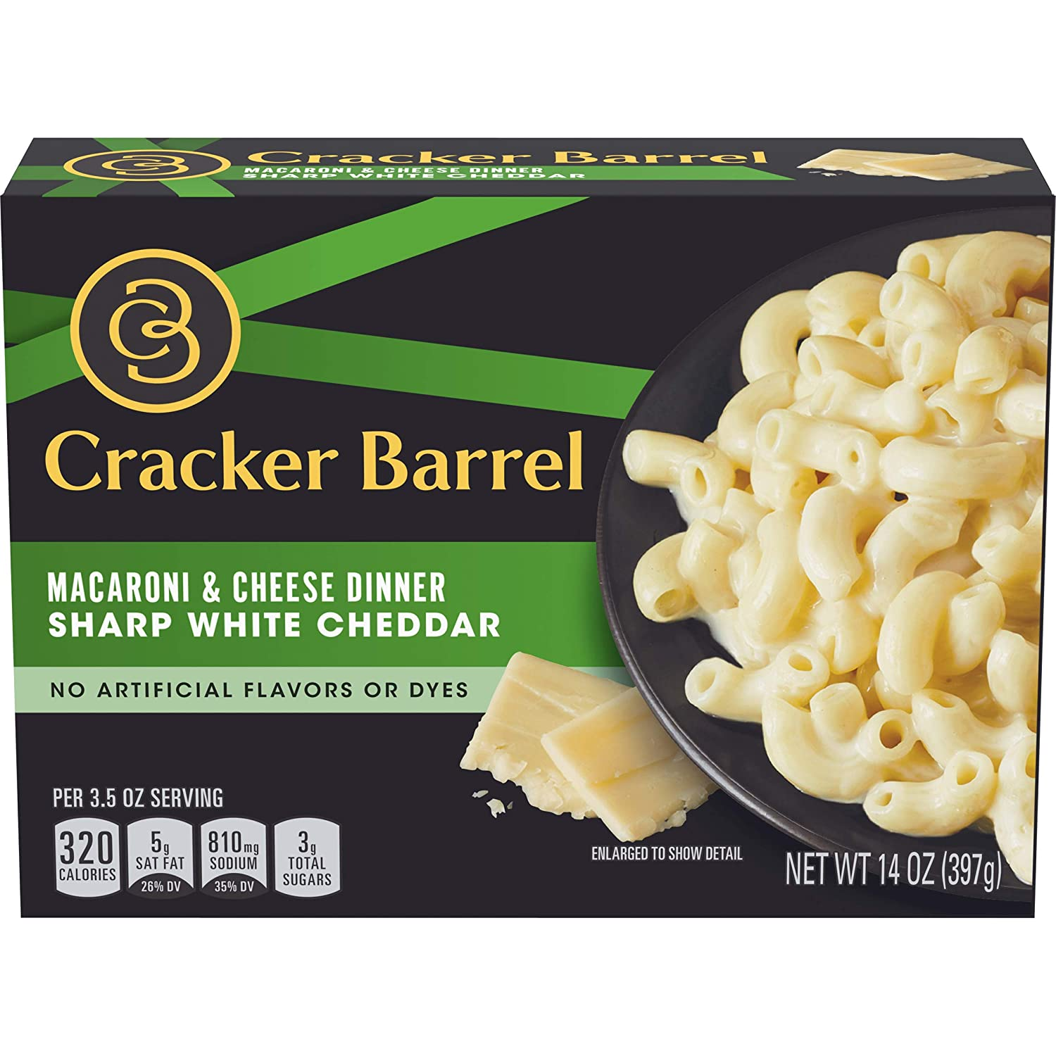 Cracker Barrel Sharp White Cheddar Macaroni and Cheese Dinner (14 oz Boxes, Pack of 12)