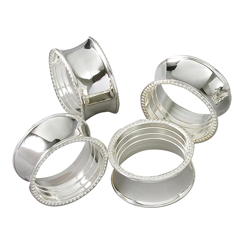 Elegance Beaded Round Napkin Rings.