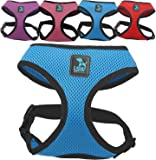 LSW Pet Design No Pull Small Dog - Pet Harness – Breathable Mesh and Sizes (Blue Medium)