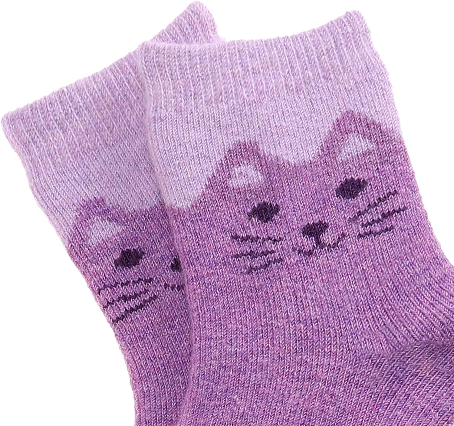 MSMETRO 6 Value Pack Girls Boys Thick Wool Socks Cute Animal Snowflake Warm Thermal Winter Crew Christmas Gift Socks