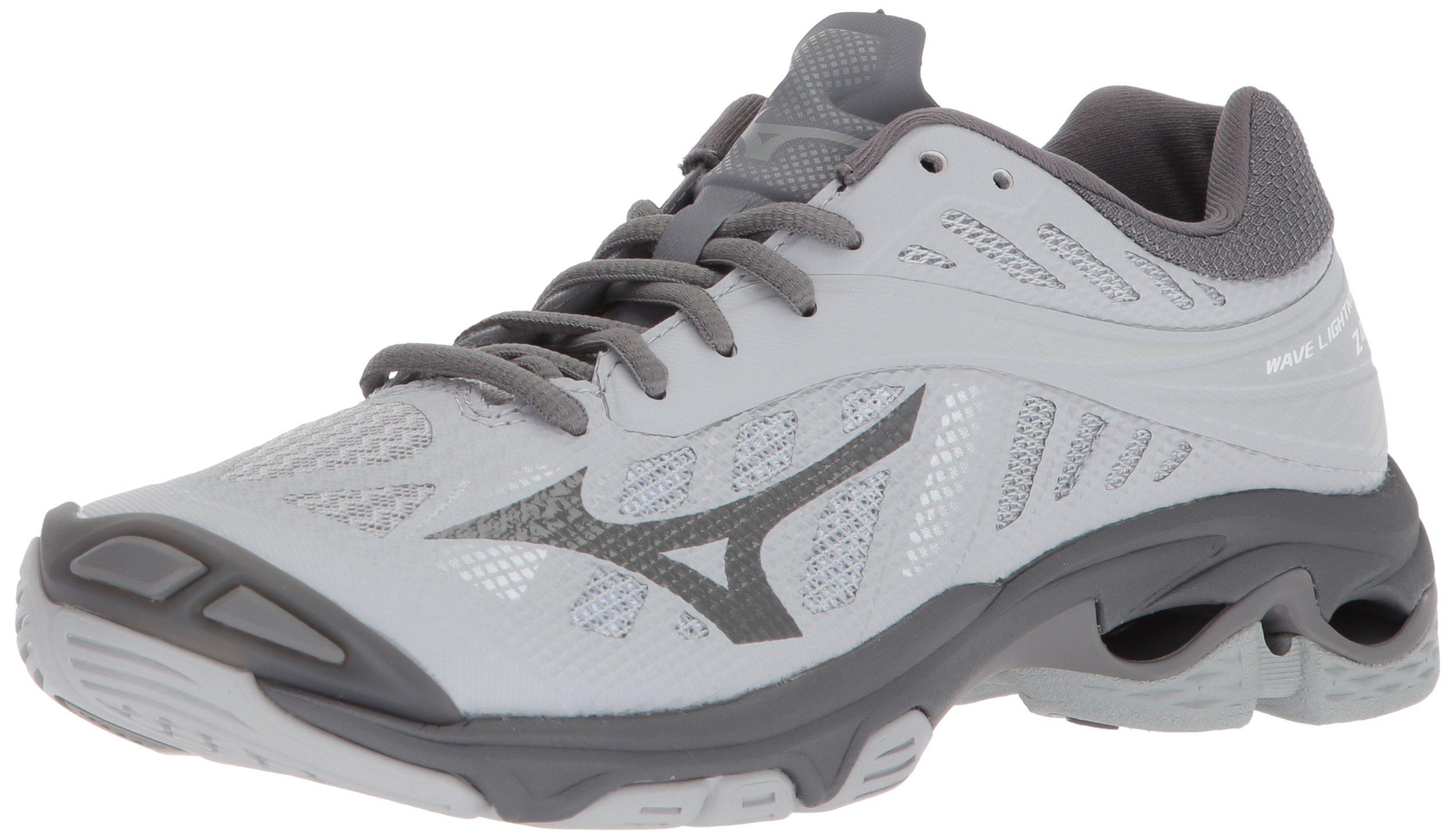 Mizuno Wave Lightning Z4 Volleyball Shoes, Grey Women's 6 B US