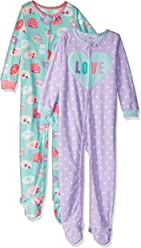 Carters Baby and Toddler Girls 2-Pack Fleece Footed Pajamas