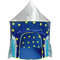 USA Toyz Play Tent for Boys or Girls – Rocket Ship Kids Tent, Astronaut Space Tents w/ Projector Toy, Outdoor Indoor Spaceship Play Tent for Kids or Toddlers
