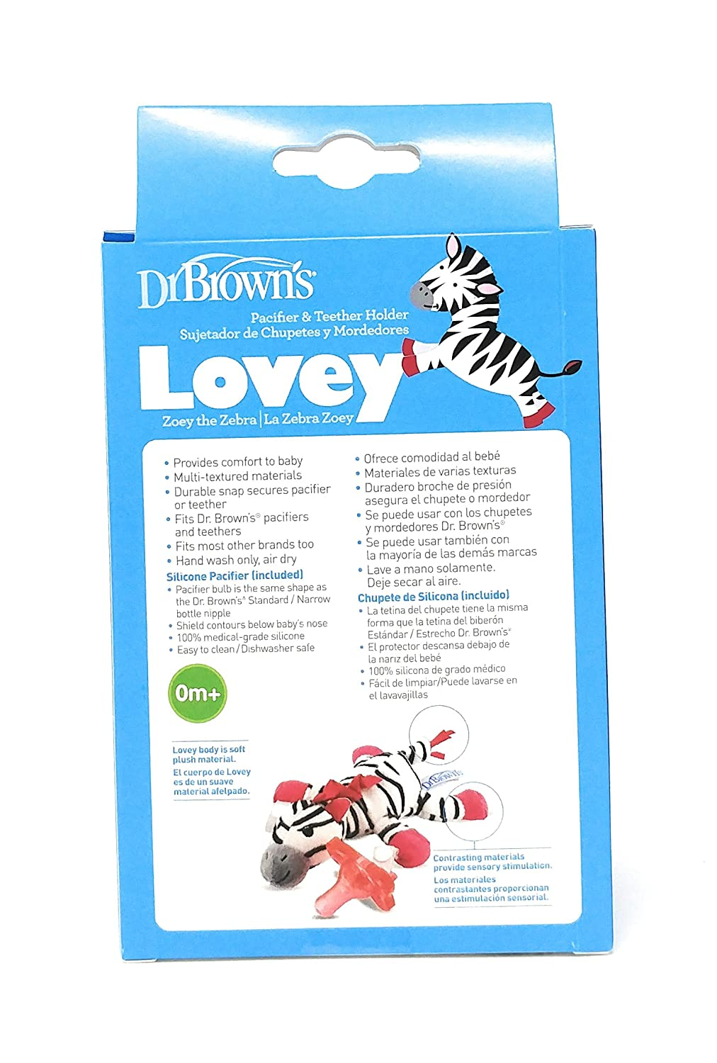 Amazon.com: Dr. Browns Zebra Lovey with Pink One-Piece ...