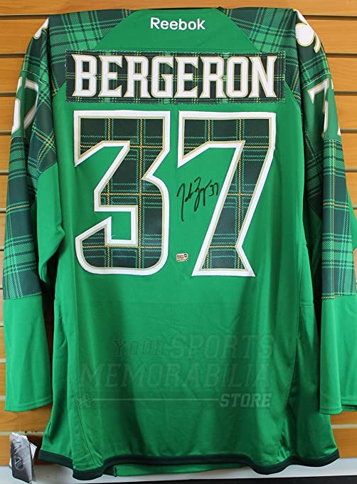 new product 5bd46 c0f31 Patrice Bergeron Boston Bruins Signed Autographed 2017 St ...