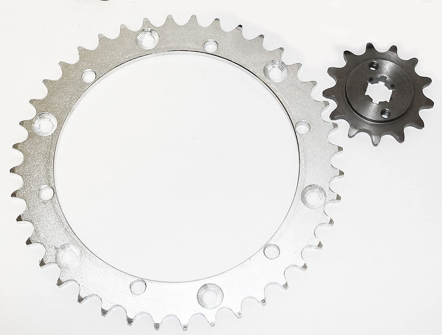 2000-2002 fits Yamaha YFS 200 Blaster 13 Tooth Front /& 40 Tooth Rear Silver Sprocket