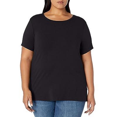 Essentials Women's Plus Size Short-Sleeve Crewneck T-Shirt: Clothing
