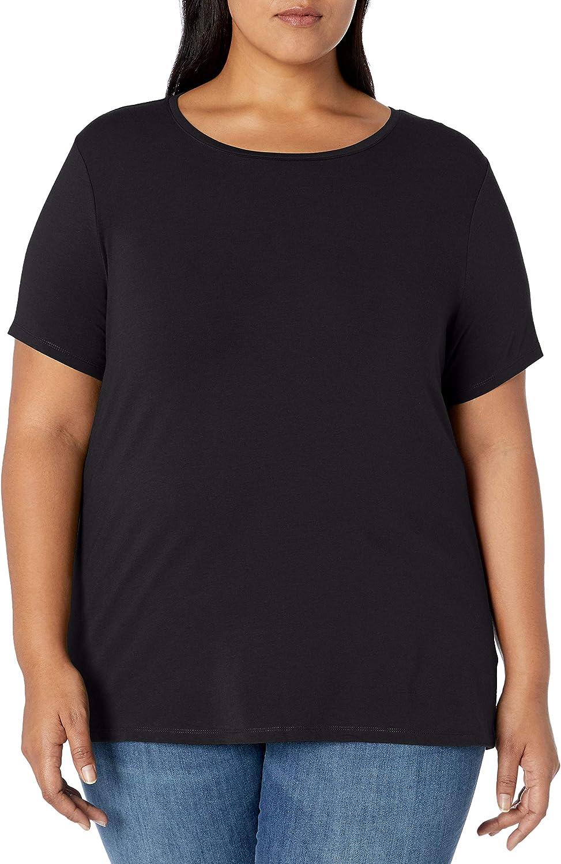 Amazon Essentials Women's Plus Size Short-Sleeve Crewneck T-Shirt