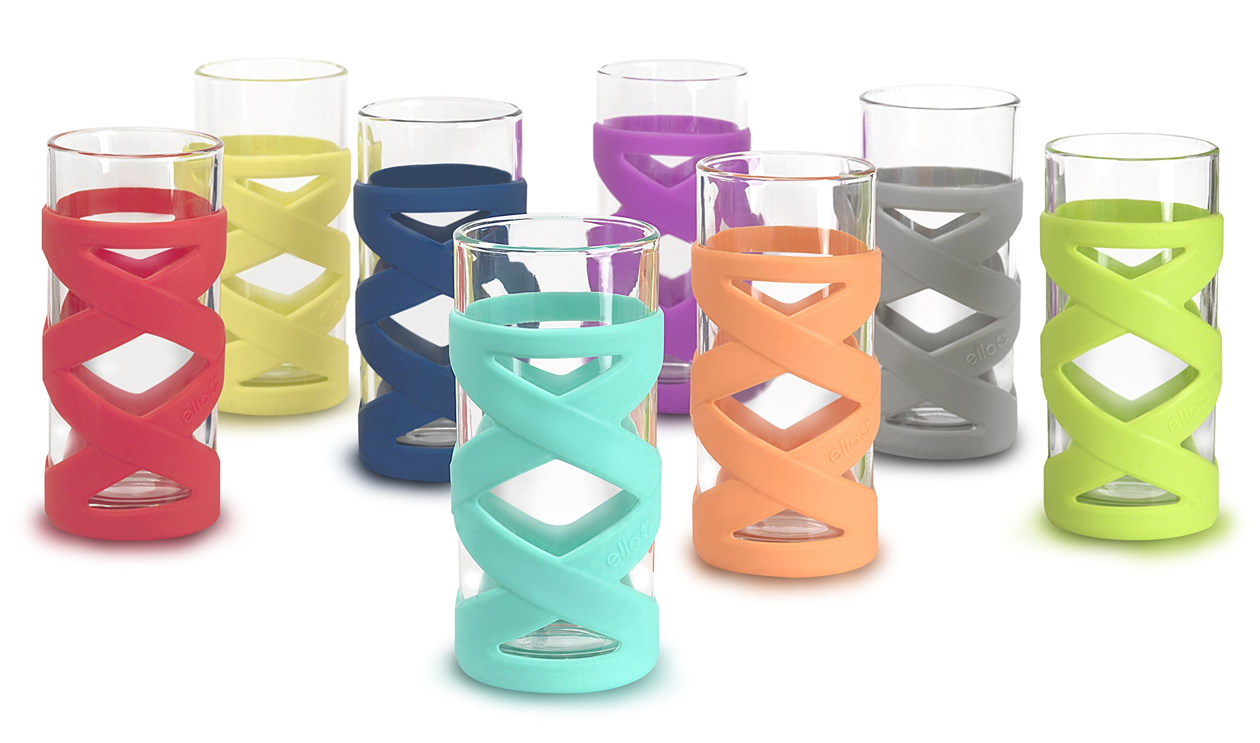 Ello Tallboy 8pc Silicone Glassware Set by Ello (Image #2)