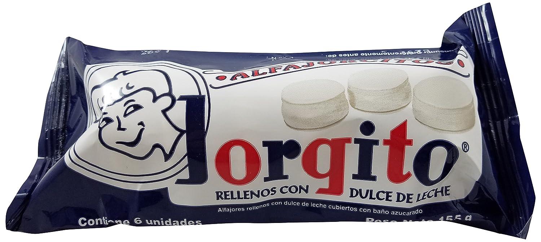 Amazon.com : JORGITO Alfajorcitos Rellenos Con Dulce De Leche, 6 ct : Grocery & Gourmet Food