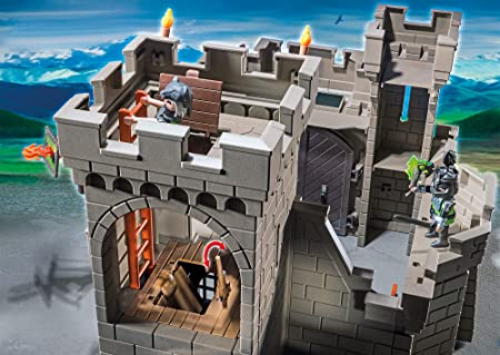 PLAYMOBIL Caballeros - Playset Fortaleza (6002): Amazon.es ...
