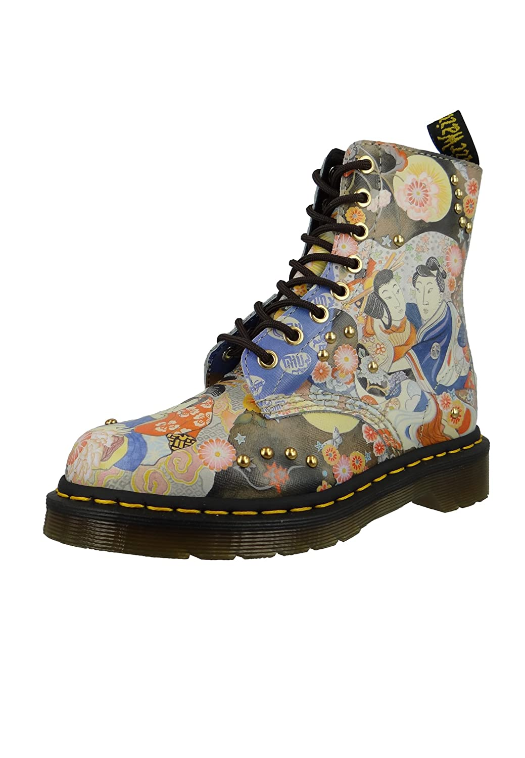 Dr. Martens Womens Eastern Art Pascal Boots B071GNB6S1 3 M UK|Oriental Backhand Straw Grain
