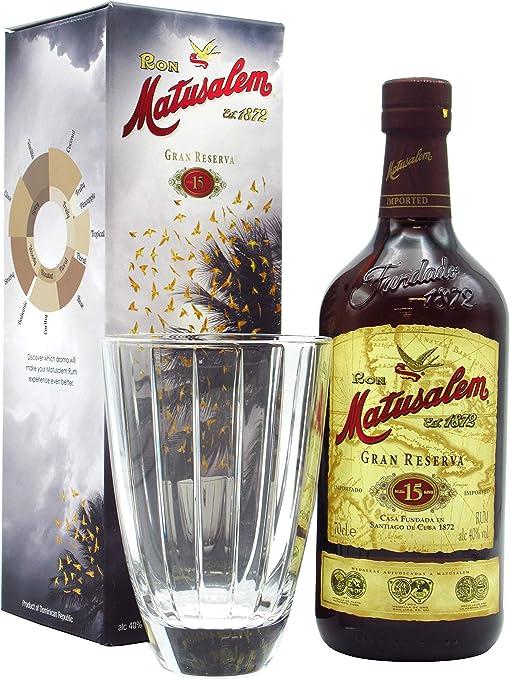 Matusalem - Glass Gift Pack & 15 Gran Reserva - Whisky ...