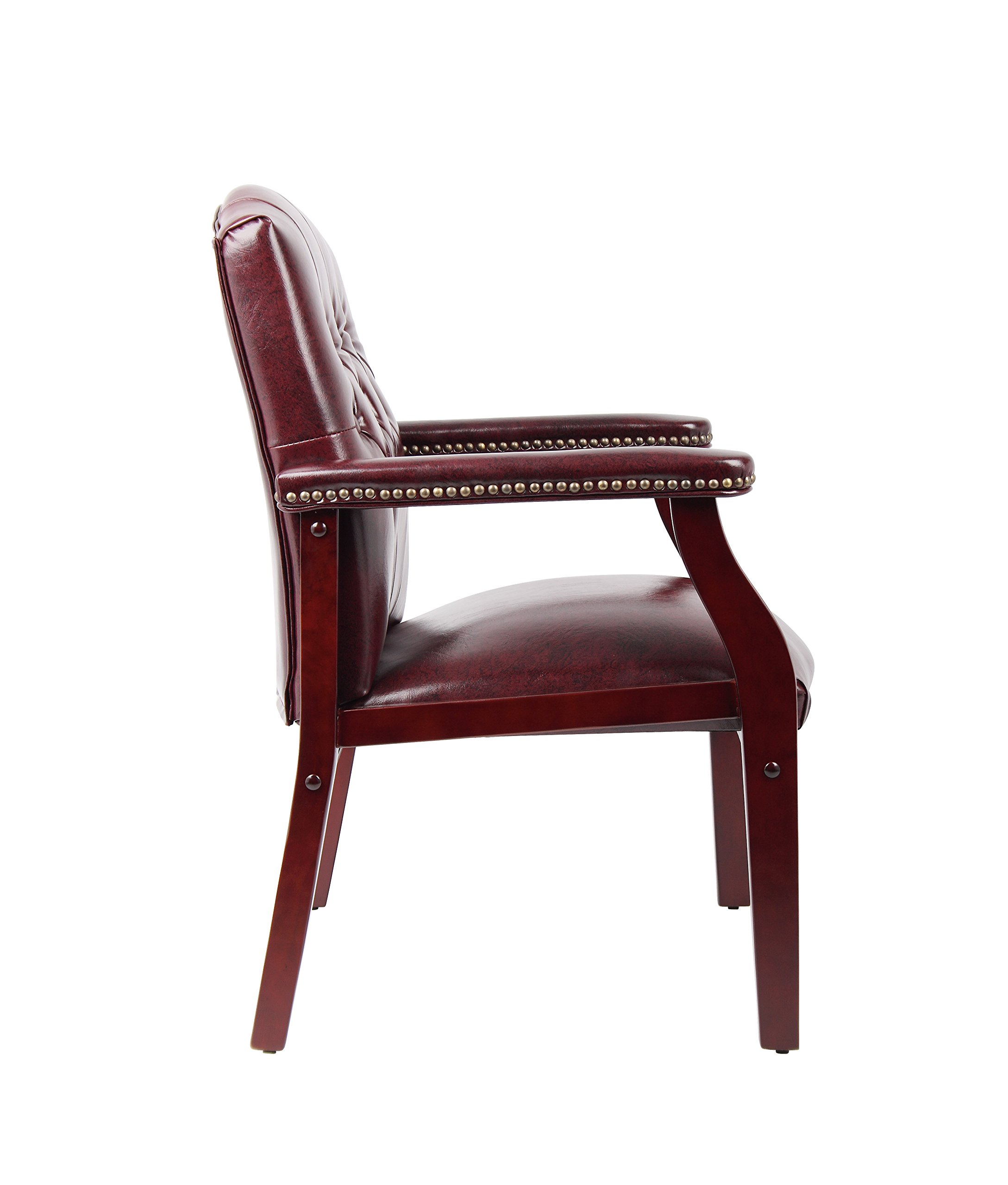 Boss Office Products B959-BY Ivy League Executive Guest Chair in Burgundy by Boss Office Products (Image #6)