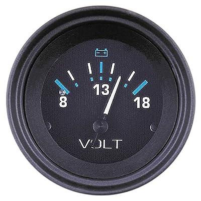 "SeaStar 68408P Voltmeter, Eclipse 2"", 8-18 VDC: Automotive"