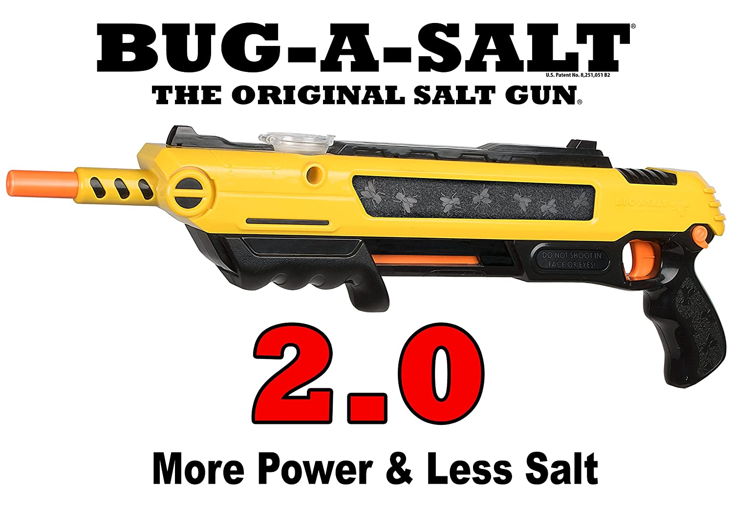 BUG-A-SALT 2.0 FLY GUN - DIRECT FROM PATENT HOLDER: Amazon.co.uk: Garden &  Outdoors