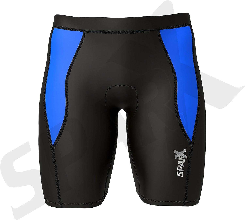 Sparx Mens Performance Tri Shorts Swim Bike Run Cycling Triathlon Shorts