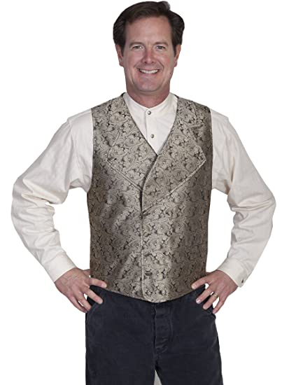 Victorian Men's Vests and Waistcoats Wide Notched Lapel Vest  AT vintagedancer.com
