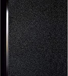 DUOFIRE Black Window Film Privacy Window Film Blackout Sun-Light Control Window clings No Glue Anti-UV Non Adhesive Window Matte Decorative Film, Super Dark Black, DT-C009 (17.4 x 78.7 Inch)