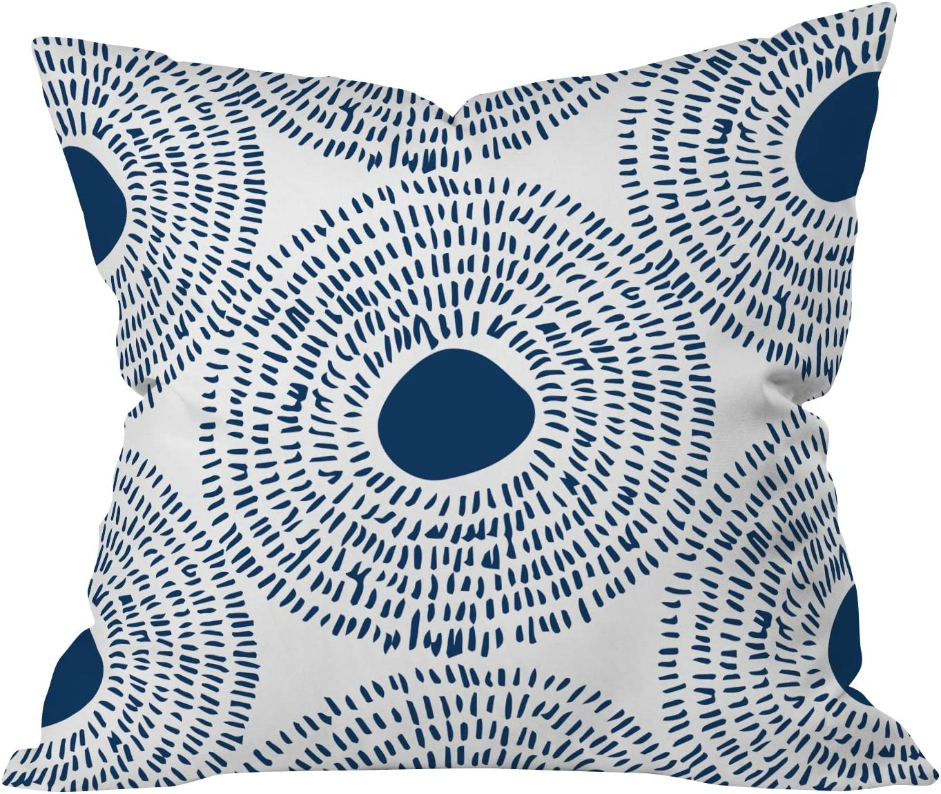 Deny Designs Camilla Foss Circles In Blue Ii Throw Pillow 18 X 18 Home Kitchen