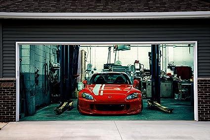 Amazon Sport Car Cover For Garage Door 3d Print Effect Murals