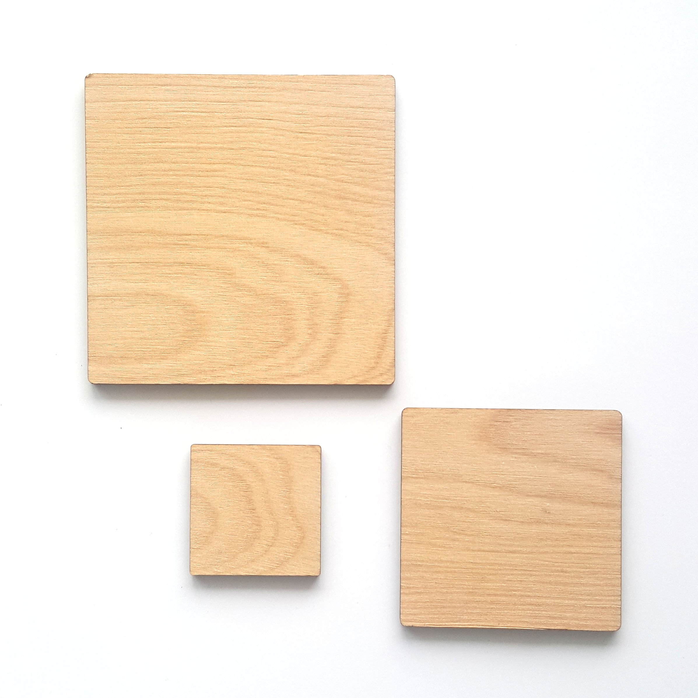 25 Wood Square Blank 1/8'' Thick (Select Size) (6'')