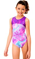 TumbleWear Girl's Makenna Purple Tie Dye Leotard