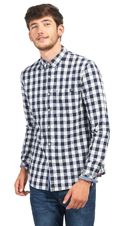 TOM TAILOR Denim Herren Freizeithemd Structured Check Shirt: Amazon.de:  Bekleidung