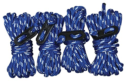 Blue Sky Gear Guy Line Reflective Accessories (4-Pack), Blue