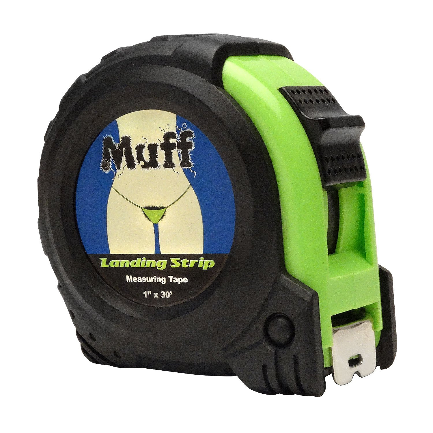 Muff Products Landing Strip 30 Foot / Cunt Hair Measuring Tape Measure - Gag Gift Funny Tools