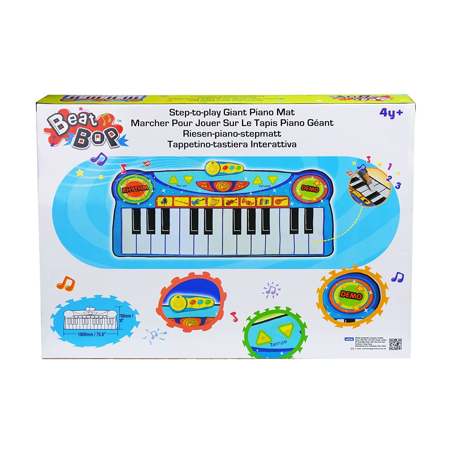 Amazon Com Winfun Step To Play Giant Piano Mat Toys Games