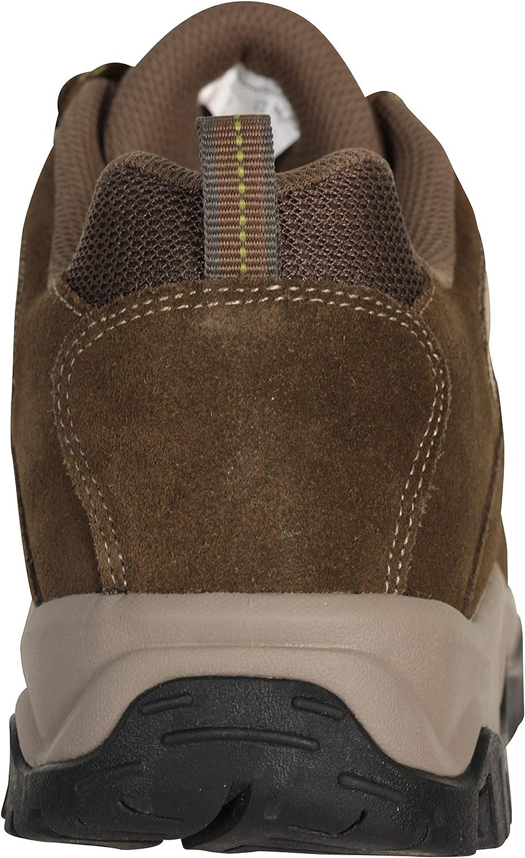Mountain Warehouse Chaussures imperméables pour Hommes Voyage - Chaussures de randonnée légères, séchage Rapide, Semelle EVA, Maille, Semelle extérieure en Caoutchouc Marron