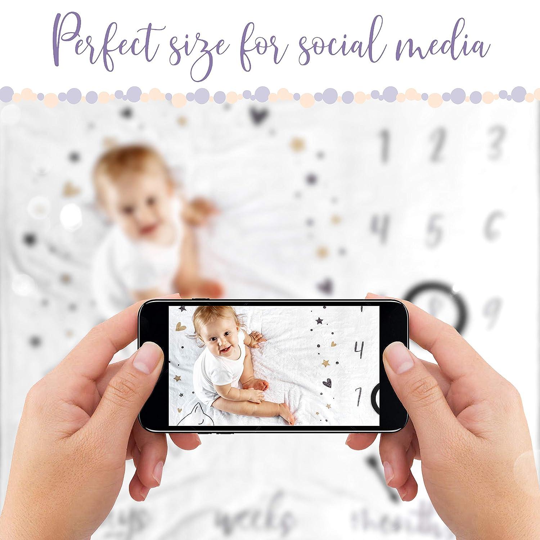 Amazon.com: Manta de hito mensual para fotos de bebé – manta ...