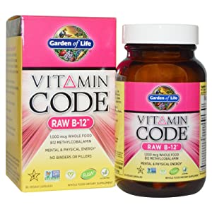 Garden of Life Vitamin Code Raw B12 30 Vegan Capsules (Pack of 2)