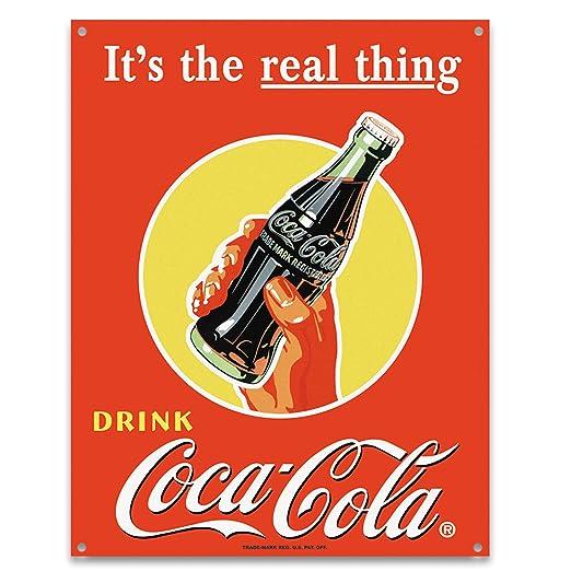 Cartel de chapa Coca-Cola, Tamaño: 41 x 32 cm: Amazon.es ...