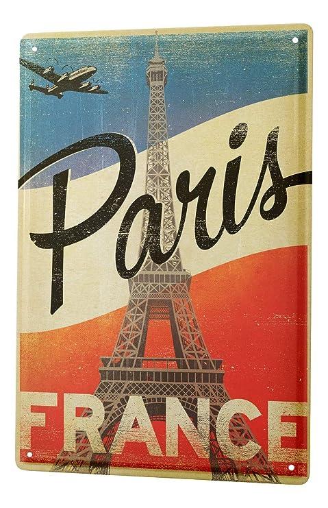 Blechschild Reisen Küche Paris