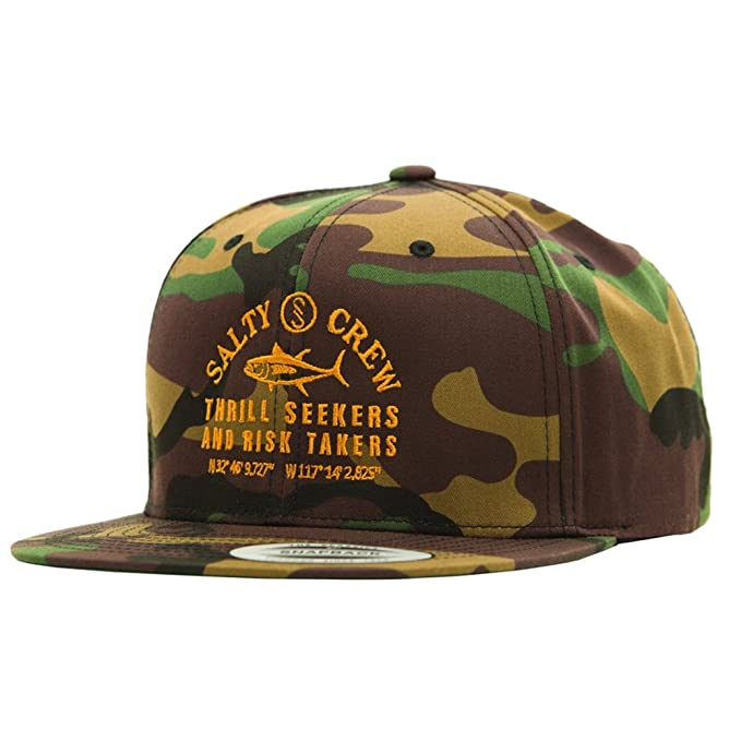 check out 1e3d9 26fef Salty Crew Men s Fish Market 6 Panel, Camo Green, One Size