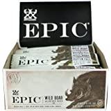 Epic All Natural Meat Bar, 100% Wild, Boar, Uncured Bacon, 1.5 oz. (12 Count)