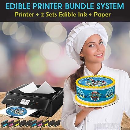 Comestible impresora BUNDLE- funda Package- con 2 juegos de tintas ...
