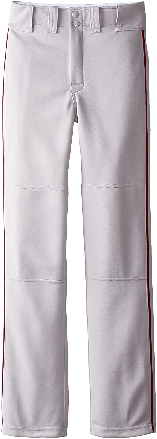 Easton Boys' Youth Quantum Plus Baseball Pants with Piping (Grey/Maroon, Youth Small) Easton Sports Inc. A164618